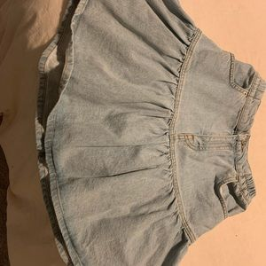 Topshop Flouncy Denim Skirt